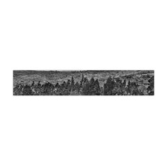 Black And White Landscape Scene Flano Scarf (mini)