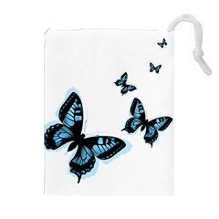 Butterflies Drawstring Pouches (extra Large)