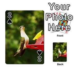 Female ruby throated hummngbird Playing Cards 54 Designs
