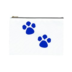 Blue Paws Cosmetic Bag (Large)