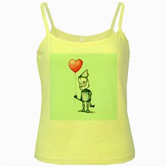 Tin Man Yellow Spaghetti Tank