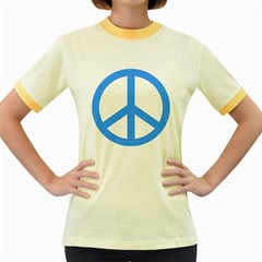 Blue Peace Women s Fitted Ringer T Shirts