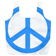 Blue Peace Full Print Recycle Bags (L)
