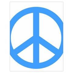Blue Peace Drawstring Bag (Large)
