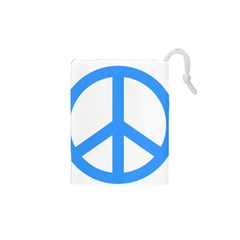 Blue Peace Drawstring Pouches (XS)