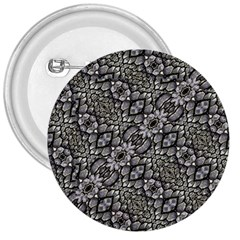 Silver Oriental Ornate  3  Buttons