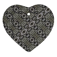 Silver Oriental Ornate  Ornament (Heart)