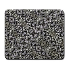 Silver Oriental Ornate  Large Mousepads