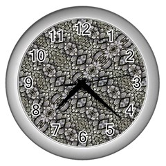 Silver Oriental Ornate  Wall Clocks (Silver)