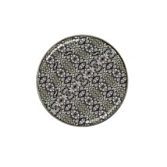 Silver Oriental Ornate  Hat Clip Ball Marker (4 pack)
