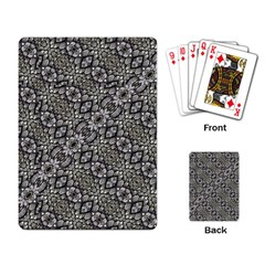 Silver Oriental Ornate  Playing Card