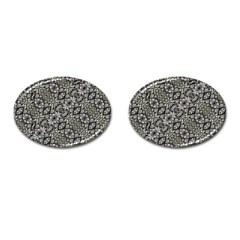 Silver Oriental Ornate  Cufflinks (Oval)