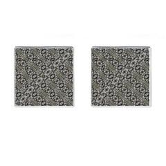 Silver Oriental Ornate  Cufflinks (Square)