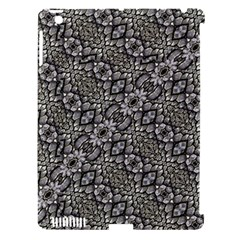 Silver Oriental Ornate  Apple iPad 3/4 Hardshell Case (Compatible with Smart Cover)