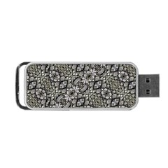 Silver Oriental Ornate  Portable USB Flash (Two Sides)