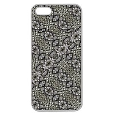 Silver Oriental Ornate  Apple Seamless iPhone 5 Case (Clear)