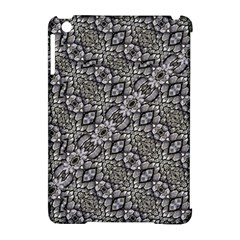 Silver Oriental Ornate  Apple iPad Mini Hardshell Case (Compatible with Smart Cover)