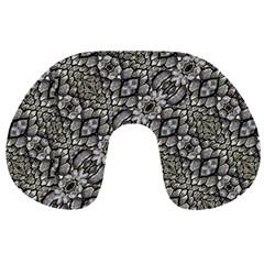 Silver Oriental Ornate  Travel Neck Pillows