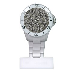 Silver Oriental Ornate  Plastic Nurses Watch