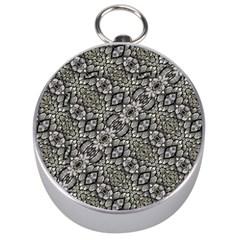 Silver Oriental Ornate  Silver Compasses
