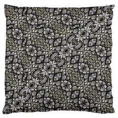 Silver Oriental Ornate  Standard Flano Cushion Case (Two Sides)