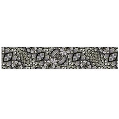 Silver Oriental Ornate  Flano Scarf (Large)