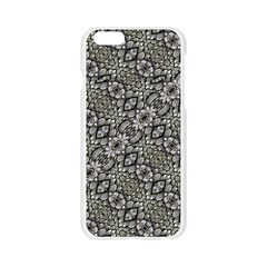Silver Oriental Ornate  Apple Seamless iPhone 6/6S Case (Transparent)