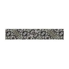 Silver Oriental Ornate Flano Scarf (Mini)