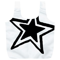 Double Star Full Print Recycle Bags (L)
