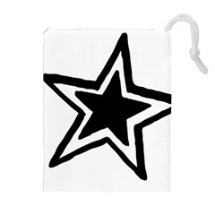 Double Star Drawstring Pouches (Extra Large)