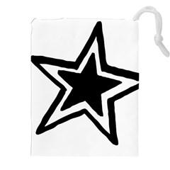 Double Star Drawstring Pouches (xxl)