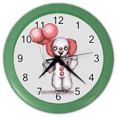 They All Float Color Wall Clocks