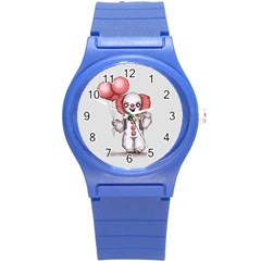 They All Float Round Plastic Sport Watch (S)