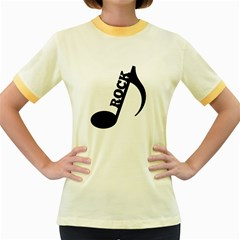 Rock Women s Fitted Ringer T Shirts