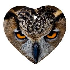 Great Horned Owl 1 Heart Ornament