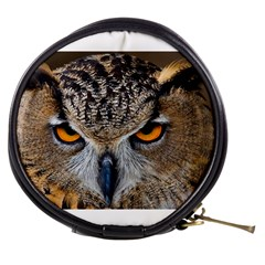 Great Horned Owl 1 Mini Makeup Bags