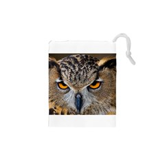 Great Horned Owl 1 Drawstring Pouches (XS)