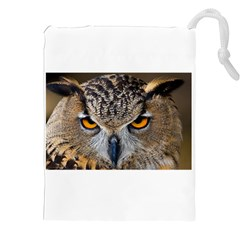 Great Horned Owl 1 Drawstring Pouches (XXL)