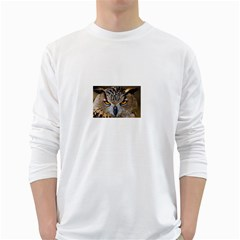Great Horned Owl 1 White Long Sleeve T-Shirts