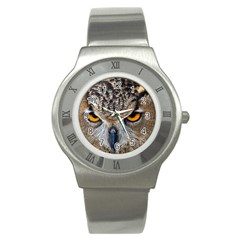 Great Horned Owl 1 Stainless Steel Watch