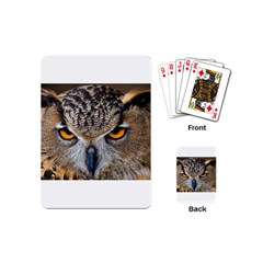 Great Horned Owl 1 Playing Cards (Mini)