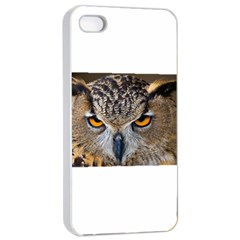 Great Horned Owl 1 Apple iPhone 4/4s Seamless Case (White)