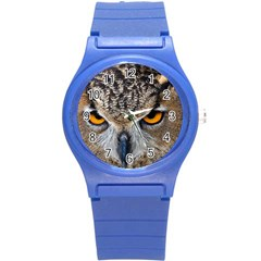 Great Horned Owl 1 Round Plastic Sport Watch (S)