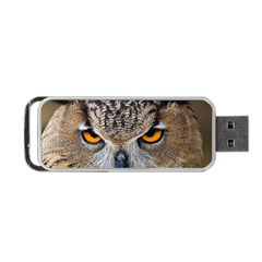 Great Horned Owl 1 Portable USB Flash (One Side)