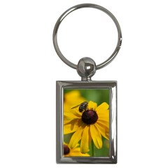 Black eyed Susan Key Chains (Rectangle)