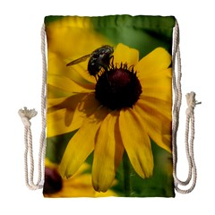 Black eyed Susan Drawstring Bag (Large)