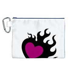 Heartflame Canvas Cosmetic Bag (L)