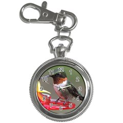 Male Ruby Throated Humming Bird Key Chain Watches