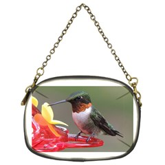 Male Ruby Throated Humming Bird Chain Purses (Two Sides)