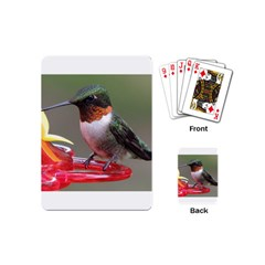 Male Ruby Throated Humming Bird Playing Cards (Mini)